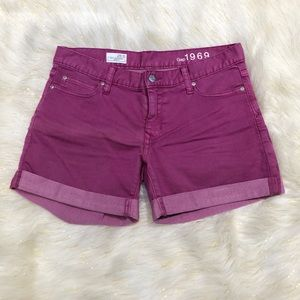 Gap Purple Sexy Boyfriend Cuffed Jean Shorts 28/6